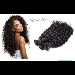 """14"""" Inch Natural Curly Virgin Remy Human Hair"""